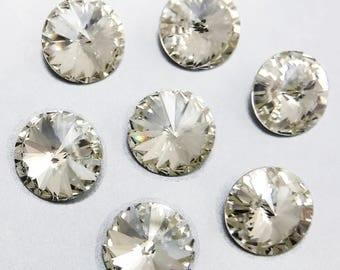 Crystal Cabochon 1122 4 pcs Rivoli SWAROVSKI Clear Crystal 10.5mm Stones S-415 b