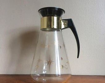 Memorial Day Sale. Vintage Corning Atomic Star Burst Carafe