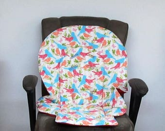 Graco Blossom or Duo diner high chair pad, baby accessory replacement pad, chair cushion, baby and kids feeding chair, nursery design, birds