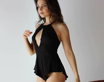 womens lingerie romper in bamboo - ICON bamboo sleepwear and lingerie range - made to order