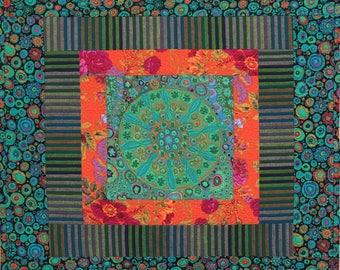 Fassett Squares I Original Fiber Art by Lenore Crawford
