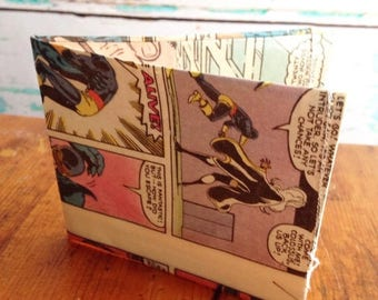 SALE Marvel X Men Storm Cyclops Beast  comic book vinyl wallet.  Handmade from vintage comic books.