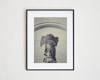 VICTORY | instant download, printable wall art, modern decor, nike, greek mythology, sculpture, goddess, black and white, classical art
