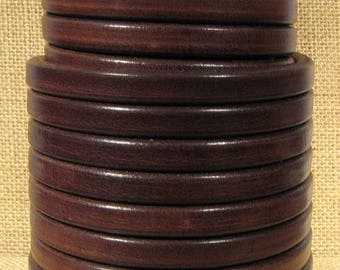 Dark Brown Wire Core Leather - WC28 - Choose Your Length