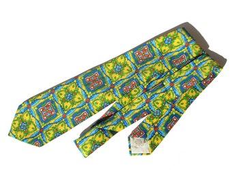 Vintage Hippie Tie Mod Multicolored Polyester Necktie