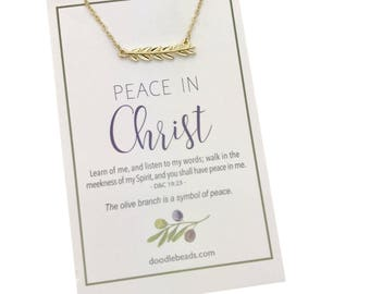 2018 LDS Youth theme Young Women theme Gifts, LDS mutual theme Jewelry, silver or gold Olive Branch Necklace, New beginnings, YW Birthdays