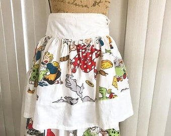 40% OFF Christmas in July Novelty Vintage 40's 50's Blondie and Dagwood Cotton Aprons (unfinished) Set of 2