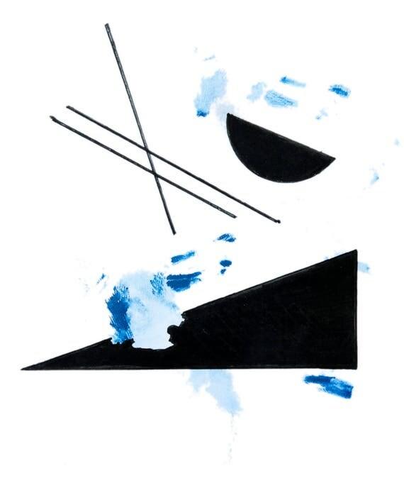 minimalist watercolor print: Indoor Summer