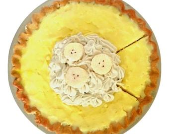 Fake Pie in Banana Cream