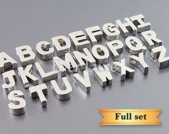 15% SALE FULL complete initial set (26 letters), A-Z Complete set of alphabets, name initial beads 945-Mr-Bulk (full set)