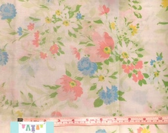 Vintage Pillowcase with beautiful Pastel Flowers