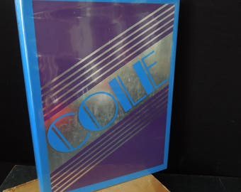 """Cole Porter Coffee Table Vintage Book - Hardcover Titled """"Cole"""" A Biographical Essay - Song Writer Early 20th Century"""