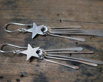 Shooting stars Sterling Silver earrings