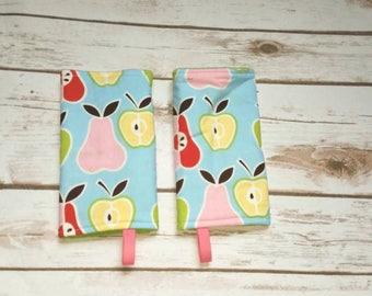 Apples and Pears suck pads/drool pads/apples/pears/fruit/food/yellow/babycarrier/accessories/SSC