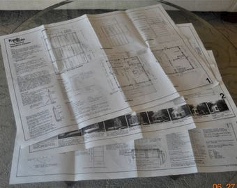 1977 Year-Round Vacation House Building Plans,Family Circle Construction prints,Solar Walls,Panels,Solar heating,Elevations,Framing ...ect