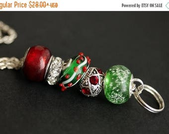 BACK to SCHOOL SALE Christmas Lanyard. Badge Lanyard. Badge Holder. Holiday Lanyard. Red and Green Lanyard. Id Lanyard. Badge Necklace. Gree