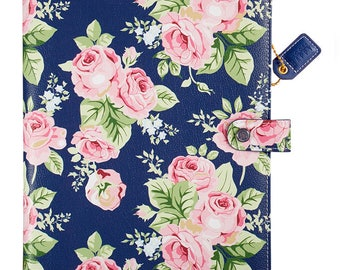 Color Crush Navy Floral Composition Planner (IN STOCK) Free Washi Tape with this order (CP001-NF)