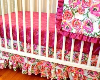 Sweet Paradis Floral Bedding Set