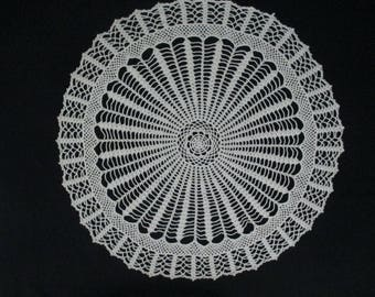 Large Vintage Round Crochet Doiley Doiley Doily Table Cover
