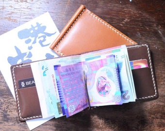 Ho-Ho-Sew Genuine Leather Money Clip Wallet Purse DIY Kit