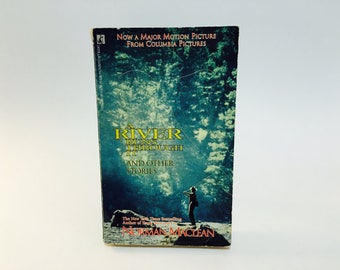 Vintage Pop Culture Book A River Runs Through It by Norman Maclean 1993 Movie Tie-In Edition Paperback