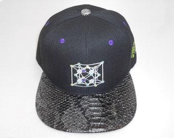 Snapback Flat-Brim Hat - Fluorite (One-of-a-kind)