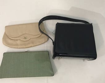 Vintage Lot Of 3 Purses for Costume, Upcycle, Repair, or Theatre