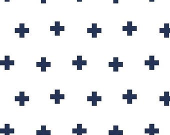 last call Double Gauze Fabric, Perfect and lightweight for swaddle blankets, Navy Plus fabric, 1 YARD