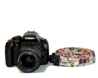 Made in USA Thin Custom Camera Strap -  PICK Fabric