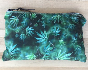 Cannabis Leaf Print Stash Bag