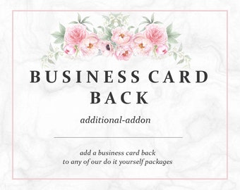 Add A Back To My DIY Business Card   Business Set   Business Branding   Business Package   Premade DIY
