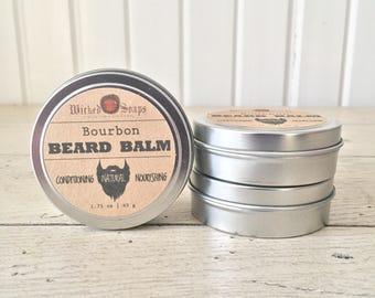 Bourbon Beard Balm - Natural Beard Balm, Organic, Beard Moisturizer, Beard Conditioner, Beard Wax, Beard Care, Beard Grooming