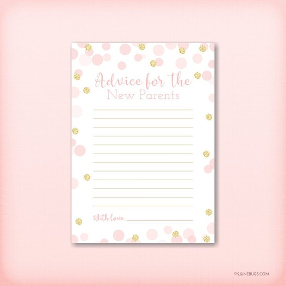 pink and gold words of advice for new parents advice for mommy