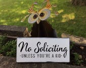 """No Soliciting No Soliciting Wood Sign,No Soliciting Farm Style Sign,No Soliciting Porch Sign,Rustic Decor,Painted Wood Sign,Home Decor,12""""x6"""