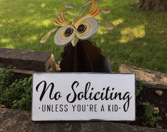 "No Soliciting No Soliciting Wood Sign,No Soliciting Farm Style Sign,No Soliciting Porch Sign,Rustic Decor,Painted Wood Sign,Home Decor,12""x6"