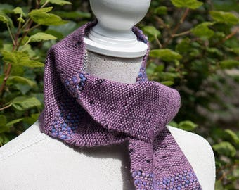 Woven Scarf - Ladies Hand Woven Scarf in Alpaca, Silk and Handspun Yarn