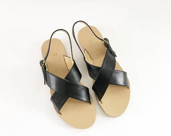 Valentine Criss-Cross Vegan Sandals (Handmade to order)