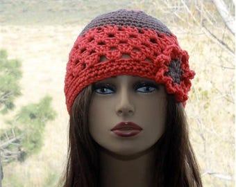 Crochet Hat Beanie Womens Hats,  crochet beautiful flower hat,  women all season hat, gift for her, fall trends