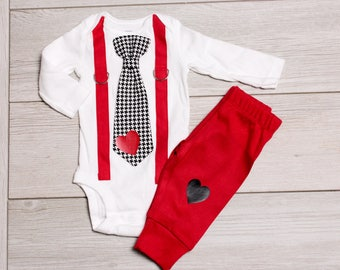 baby boy valentines day outfit with pants for baby boy newborn boy toddler