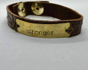 Leather Stronger Cuff