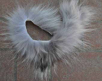 Real Beautiful Strip of Timber Wolf Fur - 14 inches