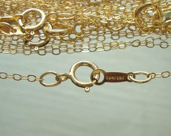 """bulk 5 pcs, 16"""", 14K Gold Filled Finished Hammered Cable Chain, 13 mm wide links, Hallmarked,FC2"""