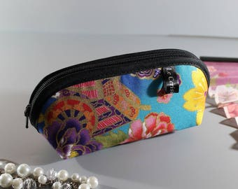Zippered purse - Akane turquoise