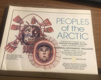 Peoples of the Arctic National Geographic map 1983