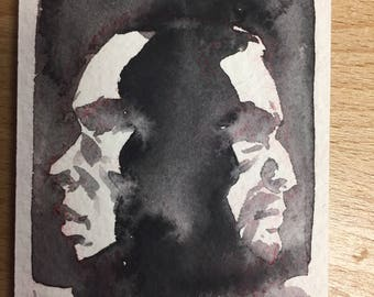 Burr and Hamilton sketchcard by Ron Chan