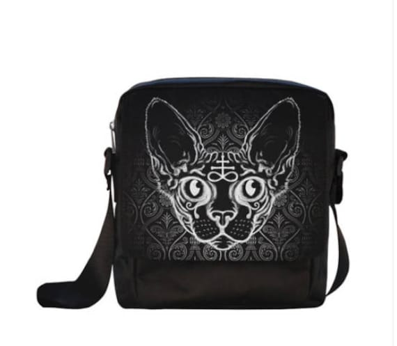 Black Cat cross body bag