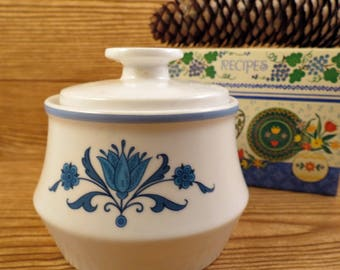 Noritake Blue Haven Progression China Sugar Bowl with Lid