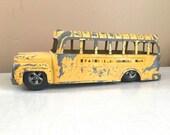 Old Metal Toy School Bus