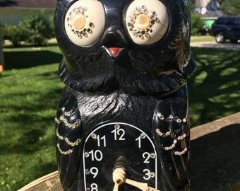 Retro Owl Clock for Repair