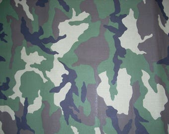 Camouflage -  Cotton Fabric - 14 1/2 inches wide and sold by the yard